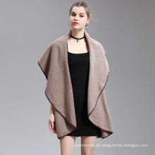 Womens Cashmere fühlen Fancy Cape Stola Poncho Schal (SP298)