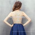 Ärmelloses Design Minikleid 2 Stück Set schwere Perlen Guangzhou Brautjungfer Kleid mit Reißverschluss-Design