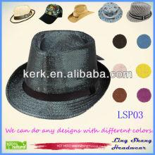 2013 новых участник шляпы, пользовательские 100% натуральной бумаги соломенной шляпе партии шляпу бумагу партии шляпу, LSP03