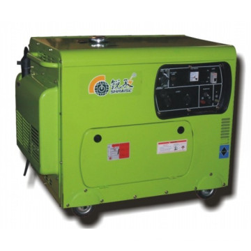 Househould Diesel Generator avec brosse, 5.5kw. Type de portable.