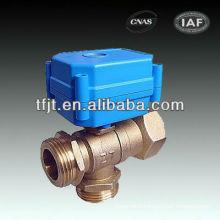 3 way brass hydraulic directional control valve 3-6V,9-24V