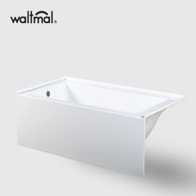 "66"" Alcove Bathtub in White Acrylic"