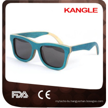 2018 Eco Friendly Skateboard Wood Sunglasses wenzhou factory Handmade Wood Sunglasses
