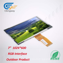 "7"" RGB Interface 250CD/M2 TFT LCD Touch Screen Module"