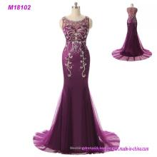Madre púrpura del vestido de las novias largo más el vestido de noche del tamaño 2017
