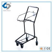 Einfacher und kompakter Korb Handwagen für 2 Körbe