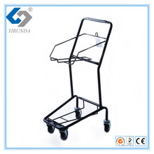 Simple and Compact Basket Hand Trolley for 2 Baskets