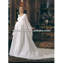 Elegantes Fußboden-Längen-Reich-Satin-schwangeres Hochzeits-Kleid