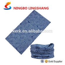 bandana tubular multifuncional de poliéster ao ar livre para gola sem costura