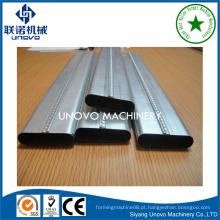 Suqian city metal self-lock linha de produção de tubo o tubo oval para construção