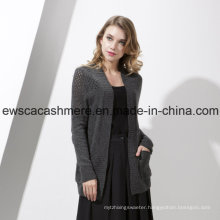 Women′s Cashmere Blend Knitwear with Silk