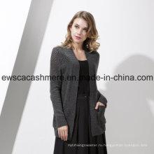 Женская кашемир смесь свитер с шелком