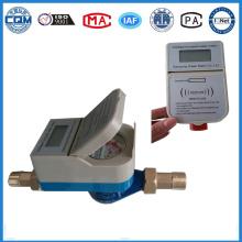 Caudalímetro de agua con válvula de cierre