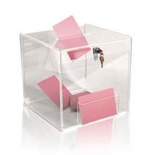 Pop Acrylic Brochure Holder, Clear Acrylic Ballot Box
