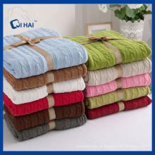 BSCI zugelassener Hersteller Cotton Blanket (QHB55509)