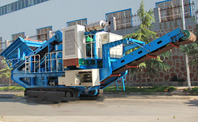 HC Tracked mobile impact crushing plant