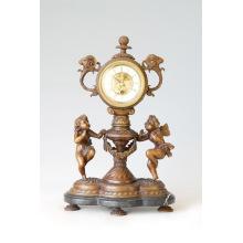 Uhr Statue Doppelwinkel Glocke Bronze Skulptur Tpc-015