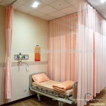 Antibacterial hospital room curtain in emergency room