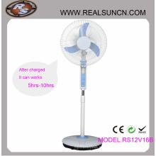 Ventilador recargable doble de la CC de la CA 16inch con la lámpara del LED (RS12V16B)