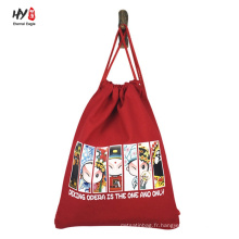 Divers sac à dos en coton personnalisé motif