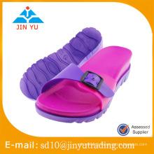 2016 Chine usine jieyang pvc pantoufles fabricants femme PVC pantoufle flip flop sandalia