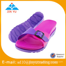 2016 China factory jieyang pvc slipper manufacturers women PVC slipper flip flop sandalia