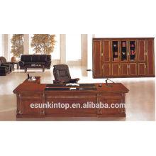 AH-04 Holzfurnier Bürotisch Büro Schreibtisch Chefschreibtisch