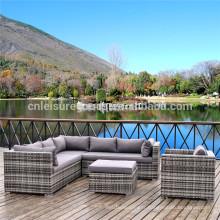 Sofa sectionnel de rotin de luxe de 5pcs