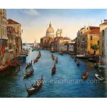 Arte em tela Veneza Itália pintura a óleo (EVN-055)