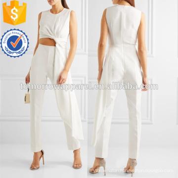 Draped Cutout Jersey and Crepe Jumpsuit Manufacture Wholesale Fashion Women Apparel (TA3024J)
