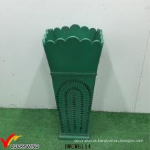 Verde vintage madeira vaso estilo titular titular guarda-chuva