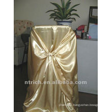 self-tie back chair cover,CT451 satin chair cover,universal chair cover