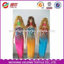 Wholesale femmes robe 100% rayonne imprimé tissu