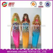 Оптовая женщин платье 100% печатных вискоза ткань
