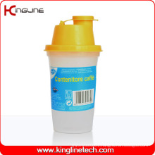 BPA Free, 300ml Plastic Protein Shaker Bottle with Filter (KL-7405)