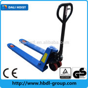 The cheap hand pallet truck with AC pump made in china