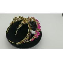 wholesale accessoires pour femmes à la main Luxvry Crystal Pearl Bridal Hairbands Silver Shiny Wedding accessoires de cheveux femmes mariée