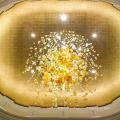 Модная индивидуальная великолепная люстра с хрустальным шаром для лобби