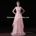Гуандун Новое Пришествие 2017 Высокое Качество Розовый Кружева Длинное Вечернее Платье