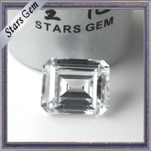 Low Price Special Octagon Emerald Cut Clear White Cubic Zirconia for Jewellery Setting