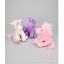 different color mini unicorn soft toy