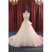 Strapless Beading Evening Prom Vestidos nupciais para casamento