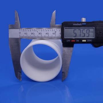Tubo cerâmico de óxido de alumínio de tamanho grande 99,5%