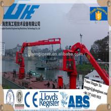 Shanghai fabricante nudillo boom hidráulico marino nave orilla grúa