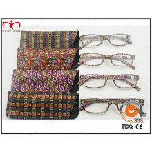 Neueste Trendy Design Lese Glas mit Tasche in Regenbogen Farbe (WRP504198)