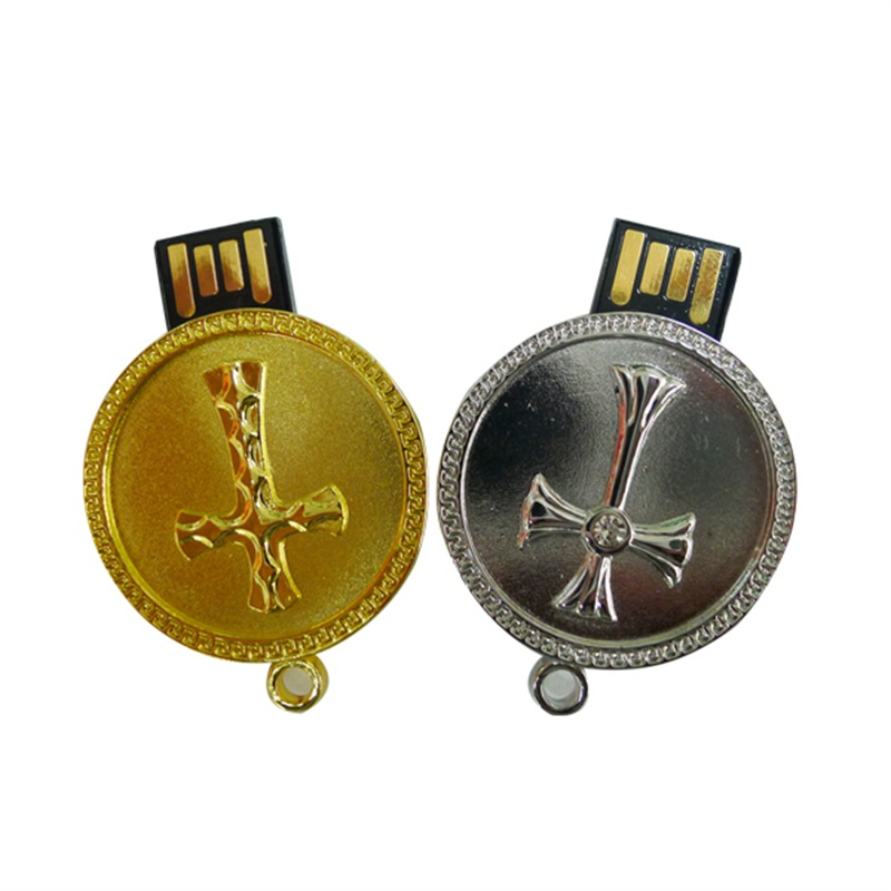 Metal Coin Usb Flash Drive