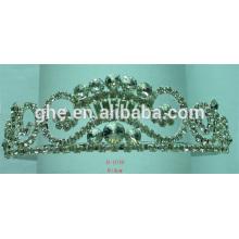 Extracto de la corona de las espinas tiara de las tiara hechas a mano tiara rosa tiaras china tiaras de la boda