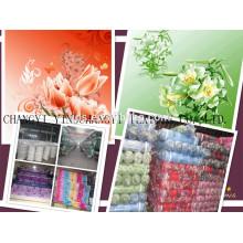 Tissu imprimé personnalisé en gros à base de polyester pour la fabrication de draps