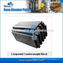 Iron counterweight block for elevator parts