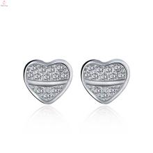 New Arrival 925 Sterling Silver Heart Earring Designs